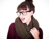 Hand Crocheted Thick Over Sized Cowl Scarf