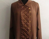 80s Vintage Chanel Quilted Panel Blouse Sz 10