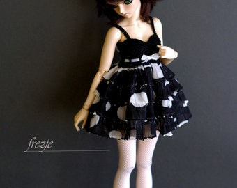 Polkadot black dress for MSD