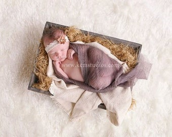 Brown Cheesecloth Baby Wrap Photography Prop, Newborn Cheesecloth, Newborn WRAP, Newborn Photo Prop, Dyed Cheesecloth