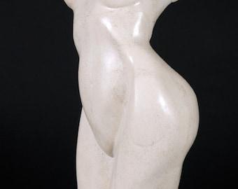 Ella - Stone Sculpture in Travertine - One of a kind
