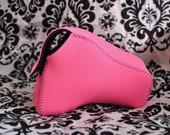 DSLR Camera Case - Pink / Black Neoprene