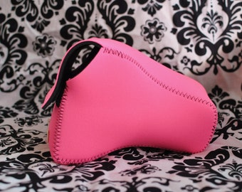 DSLR Camera Case - Pink / Black Neoprene