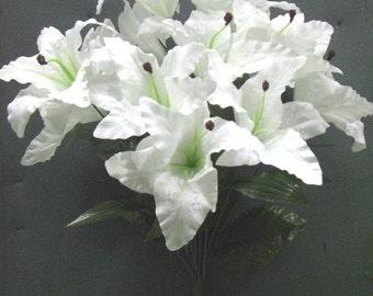 Tanday White Casablanca Lily Silk Bush 37316