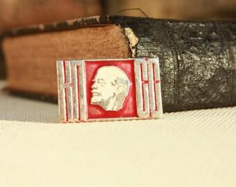 Rare Vintage pin from Soviet Union with Lenin - Vladimir Ilyich Lenin - Russian Pin - USSR - V.I.LENIN - Badge