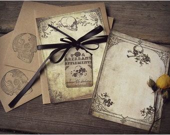 Delicate Death - Elegant Note Card Set with Envelopes