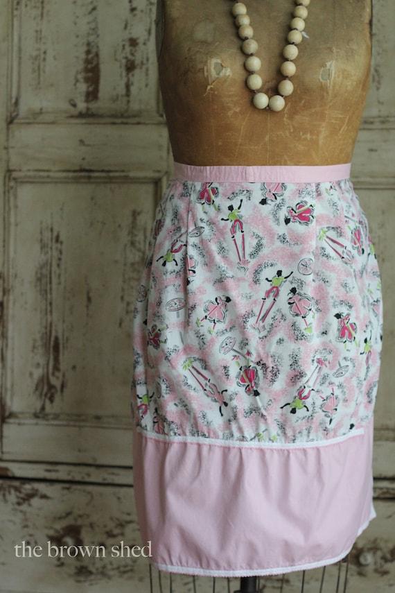 sweet and playful print apron