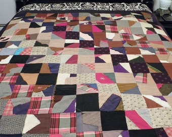 Crazy Quilt, Antique Crazy Patchwork Quilt