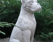 Boxer dog Concrete statues  Statues of boxer dogs Boxer dog statue Pet memorial marker Cement boxer figure Cast stone Home and garden