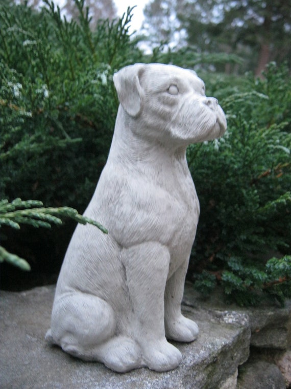 Boxer dog Concrete statues Statues of boxer dogs Boxer dog