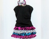 Girls RUFFLE SKIRT With mtm HAIRBOW Size Newborn to 10 Baby Toddler Spring Summer Clothes