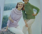 1950s 50s Reynolds Knitting Pattern Booklet / Sweaters / Great Fashion / Hairstyles / MAD MEN