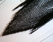 Reduced Black Crocheted Shawl Net Lover's Knot