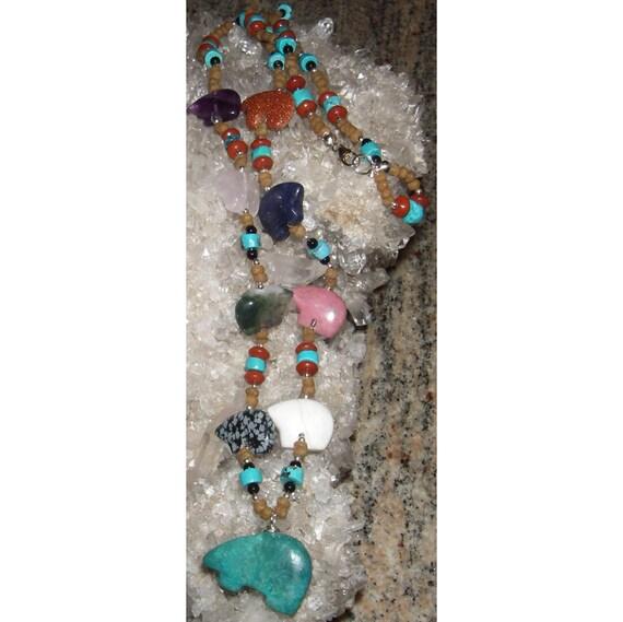 Zuni Bear Fetish Necklace