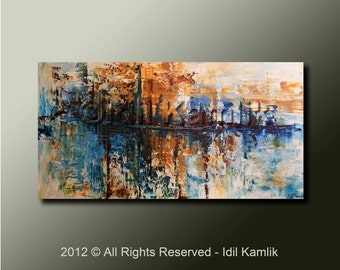 Modern Abstract Original PAINTING Contemporary Textured  Fine Art by Idil Kamlik