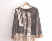 Bohemian Bolero Gypsy Sweater Dress Plus Size  Eco Fashion Funky Dress