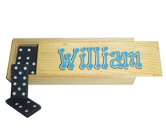 Dominoes Set Personalized / Dominos Game / Domino Set Personalized / Personalized Wooden Box / Personalized Party Favor