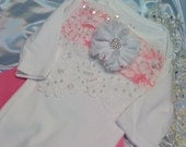 Newborn Girls One piece Body suit Pink Coming home outfit newborn