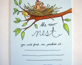 Set of 10 Change of Address Postcards - The New Nest