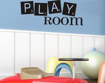 Playroom Childrens Decor Vinyl Wall Lettering Art - Kids Playroom Decal -Girl or Boy Bedroom Childrens Wall Decal Vinyl