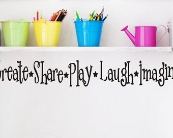 Playroom Childrens Decor Wall Decal - Kids Playroom Decal Vinyl Lettering -  Vinyl Wall Art -Vinyl Wall Decal