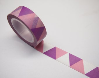 Washi Tape - Pink and White Triangle (10M)