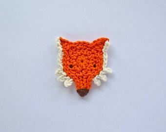 Fox Applique -  PDF Crochet Pattern - Instant Download - Embellishment Accessories Decor Ornament Scrapbooking Motif Animal