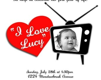 I Love Lucy Invitations