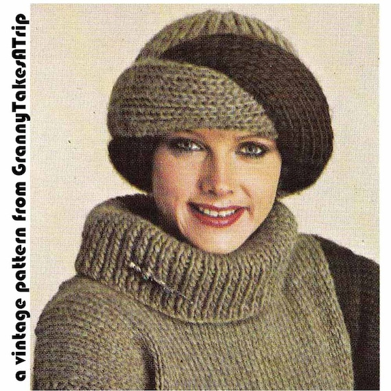 Items similar to 1970s/80s Vintage Knitting Pattern-TURBAN ...
