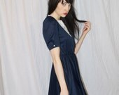 Vintage Blue Dress with Darling Collar