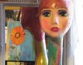 Art Sculpture Painted Figure Retail Display Mannequin Home Decor