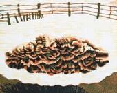 """Cloud No. 1 - Woodblock Print - 15x20"""""""