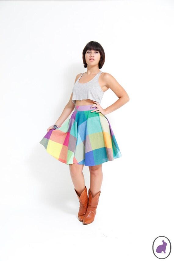 90s Rainbow Circle Skirt - Size US 4 Womens - Spring Fashion