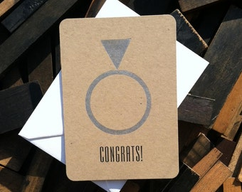 Congratulations Wedding Card. Congratulations Engagement Card. Congrats. Wedding & Engagement Cards. Letterpress Wedding.