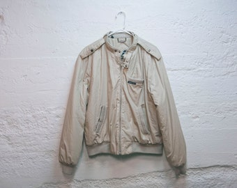 Vintage 80s MEMBERS ONLY Tan Winter Jacket Coat Size 42