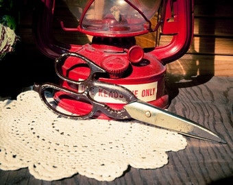 Vintage Red Handled Scissors