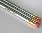 I am made of win. 3 three silver Self congratulatory pencils