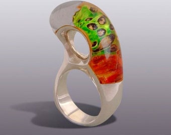 GENOME  RING.Silver Art.
