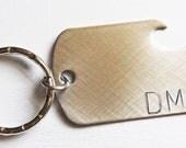 Personalized Groomsman Best Man Gift Custom Metal Bottle Opener Keychain Monogram Gift for Him
