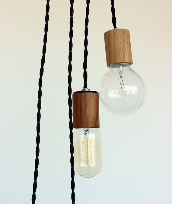 Items Similar To Wood Veneered Pendant Light With 12' Cord