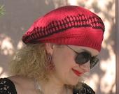 Crochet Pattern 009 -Crochet Hat Pattern - Hat Crochet Pattern for Red Beret - Slouchy Hat - Beret Crochet Pattern - Teen Adult Ladies Women