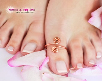 Double Spiral BIG TOE, Toe Ring