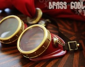 RESERVE for Adam Tisdell: Steampunk Young Justice Goggles - Kid Flash / Flash
