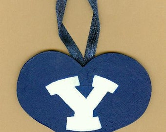 BYU Heart Ornament/Wall Hanging