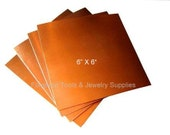 COPPER SHEET 26 Gauge 6 X 6 Inch - 1 Sheet Solid Copper For Etching, Jewelry Design, Stamping and More