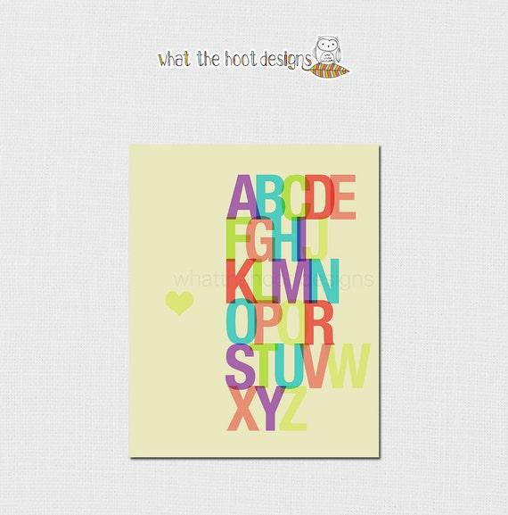 Printable Colorful Alphabet Print - 8x10 - DIGITAL PRINT
