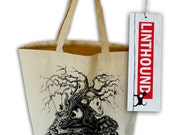 Twisted Tree Natural Canvas Grocery Tote Bag