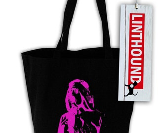 Gas Mask Soldier Reusable Black Canvas Grocery Tote Bag