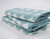 Cloth Napkins, Hand Printed in Sky Dot
