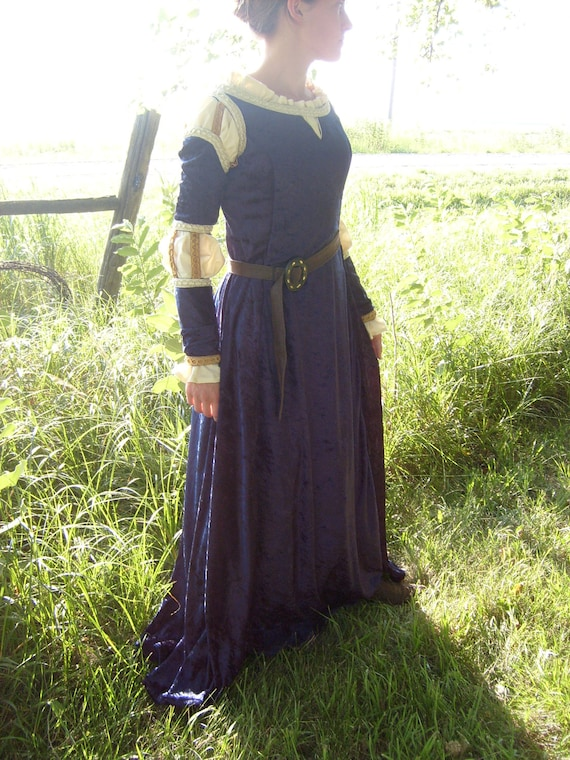 Disney's Brave Merida Dress Costume---Adult Size---Custom Made---Two Piece Set Includes Gown and Chemise